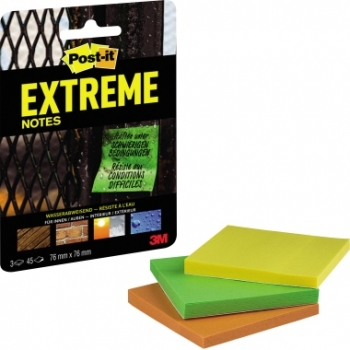 Post-it Extreme Notes 76 x 76 mm, 3 x 45 Blatt