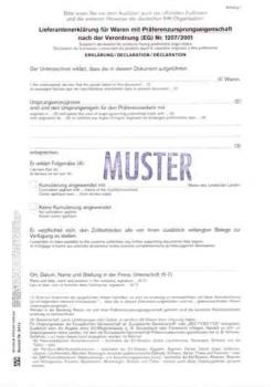 lieferantenerklrung mit prferenz - Lieferantenerklrung Muster