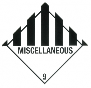 "Containerlabel Klasse 9 mit Text ""MISCELLANEOUS"""