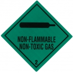 "Containerlabel Klasse 2.2 mit Text ""NON-FLAMMABLE NON-TOXIC GAS"""