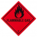 "Containerlabel Klasse 2.1 mit Text ""FLAMMABLE GAS"""