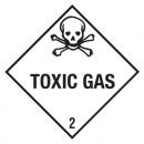 "Containerlabel Klasse 2.3 mit Text ""TOXIC GAS"""
