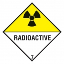 "Containerlabel Klasse 7 mit Text ""RADIOACTIVE"""