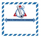 "Gefahrgutetikett ""TIME & TEMPERATURE SENSITIV"""
